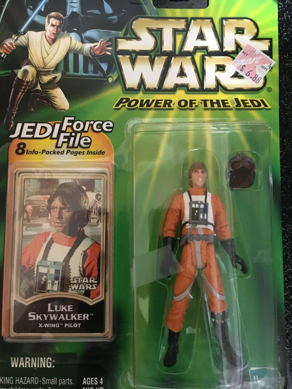 STAR WARS POWER OF THE JEDI FORDE FILE LUKE SKYWALKER X-WING PILOT
