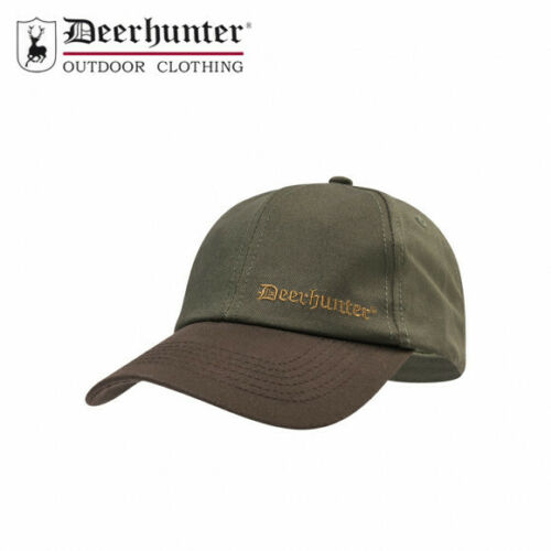 Deerhunter Baviera Cap-LOGO-Verde Taglia Unica Regolabile-marrone Picco Cappello