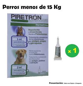 1-Pipette-Leishmaniose-Chien-lt-15Kg-Anti-Puces-Tiques-et-les-poux-PIRETRON-1ml