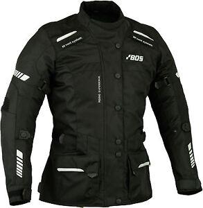 Tour-Blouson-de-motard-blouson-moto-textile-noir-taille-XS-2XL