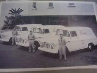 1956 Chevrolet Panel Truck Fleet Flower Shop 12 X 18 Photo Picture