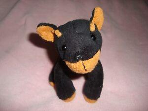 Doberman-Pincher-Dog-Puppy-Loves-Novelty-Inc-Small-Plush-amp-Beans-4-5-034-tall