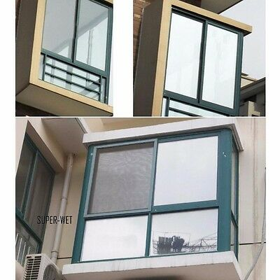 2M Window Insulation Film Sticker Solar Reflective Silver 40/50/60/80cm Privacy