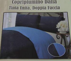 Parure-SACCO-COPRI-PIUMINO-Federa-Piumone-GIORGIO-CAMANI-Tinta-Unita-DOUBLE-FACE