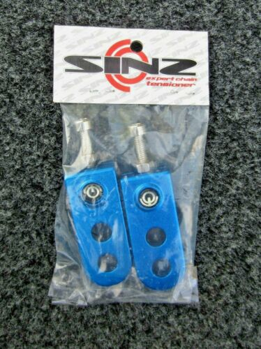 "Redline style SINZ BMX Chain Tensioners for 3//8/"" axle  BLUE alloy"