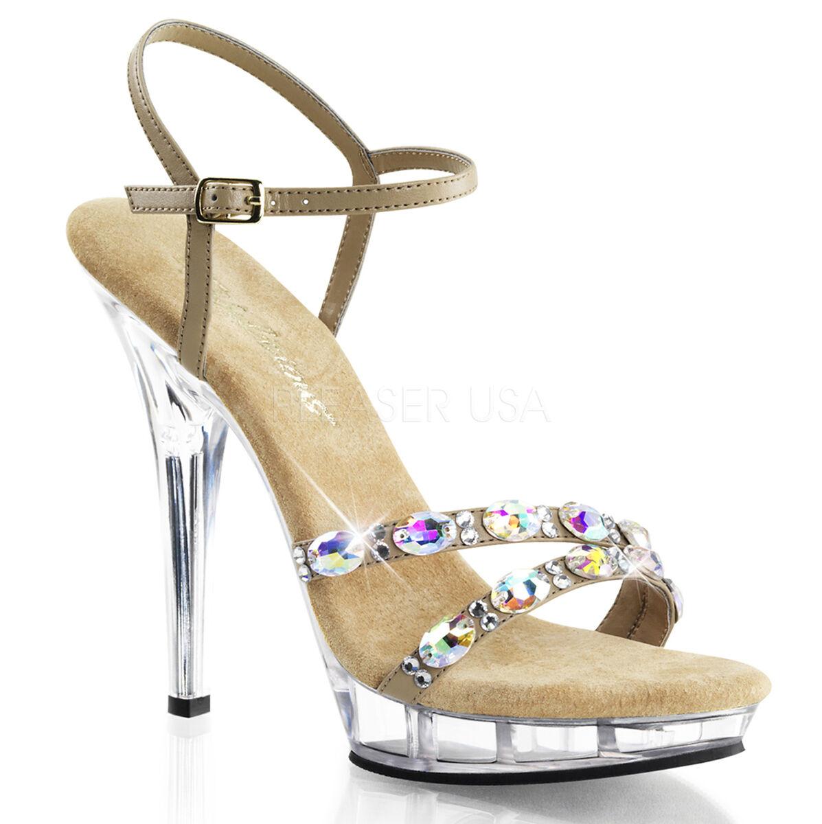 5  claro cristales cristales cristales tacones nude Fitness concurso competencia NPC reglamento Zapatos  diseño único