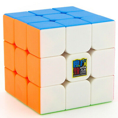 Speed Cube 3x3x3 Stickerless Smooth Twist Magic Cube Puzzle Toy for Kids MF3S