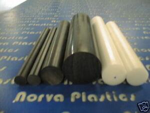 "Delrin Acetal Rod Black 1//4/"" .250 diameter 24/"" long bushings bearings 5 pack"