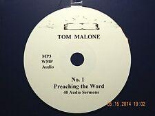 Tom Malone, No. 1,  40 Audio Sermons, MP3 one CD