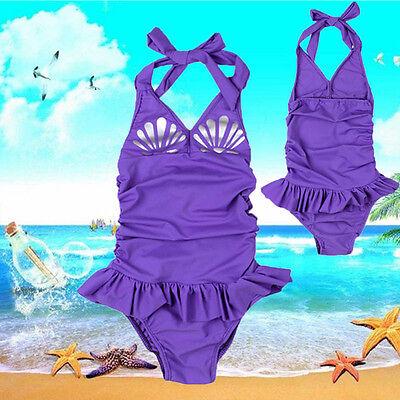 Toddler Kids Baby Girls Scallop Bikini Swimwear Swimsuit Bathing Suit Beachwear
