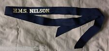 Original British Royal Navy HMS Nelson Cap Tally - Genuine Issue