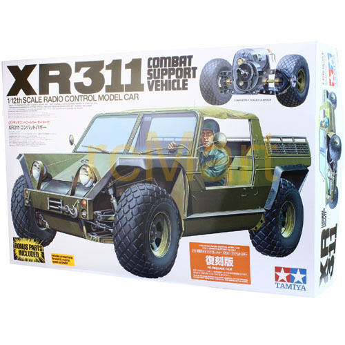 Tamiya XR311 Combat Suport Vehicle EP 2WD 1:12 RC Cars Military Off Road #58004