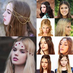 Fashion-Womens-Metal-Crystal-Head-Chain-Headband-Hair-Band-Head-Piece-Jewelry
