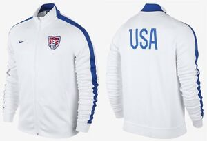 94a4ac5c26 NIKE USA AUTHENTIC N98 SOCCER TRACK JACKET WHITE BLUE NWT MEN S ...