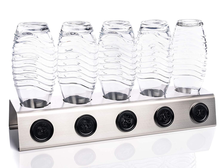 Abtropfhalter Abtropfhalter Abtropfhalter Edelstahl Abtropfständer für Sodastream Crystal & Emil Flaschen 5X b5d37f