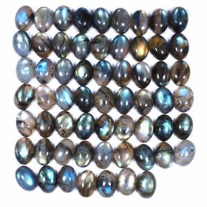 61-Pcs-Natural-Labradorite-Loose-14mm-10mm-Oval-Cabochon-Gemstones-Wholesale-Lot