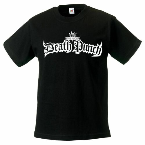 Five Finger Death Punch logo model:4 t-shirt BLACK kid clothing children FFDP