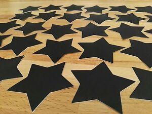 Details Zu 30 X Sterne Tafel Kreide Sticker Beschrifte Kleben Schwarz Stern Selbstklebend