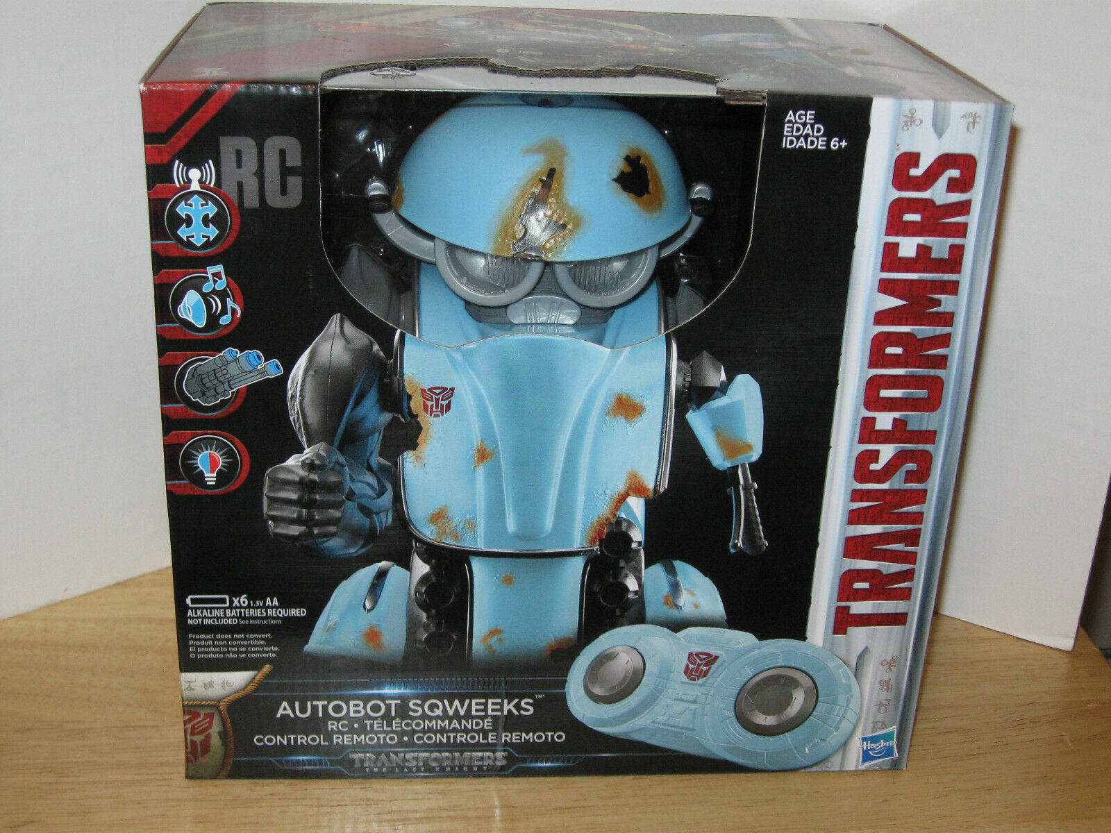 Transformers 5  Le  dernier chevalier de contrôle à distance radio contrôle Autobot sqweeks NEUF dans emballage très difficile à trouver  pas de taxes