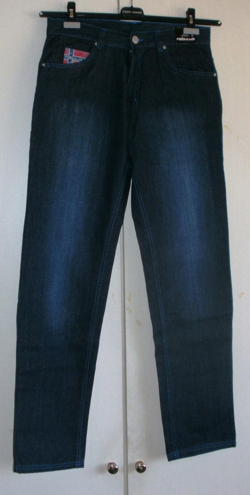 NUOVA Nebulus Uomo Jeans Pantaloni Dean regular Cut, w33 l34; NP