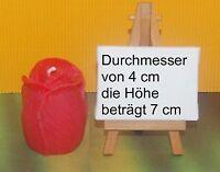 Formenkerze Rosenkerze Geschenkidee Rosenknospe Eyecatcher Wachskerze Rot