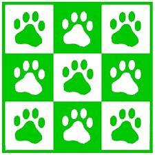 30 Custom Green Paw Print Art Personalized Address Labels
