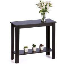 Black Hallway Entrance Table Desk Showcase Home Living Lounge Bedroom