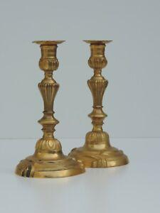 2 KerzenstÄnder Kerzenleuchter Bronze Candlestick French Antik