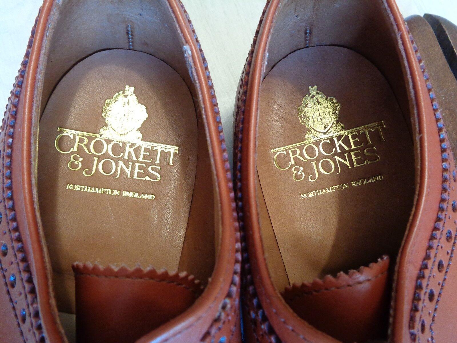 New Crockett & Jones vtg brogue brogue brogue UK 7.5 41.5 full leather wingtip derby BNWOB 22f71e
