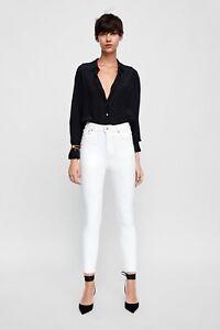a327280b Image is loading Zara-Premium-Denim-Collection-White-High-Waist-Skinny-