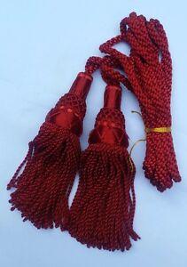 CC Scottish Bagpipes Silk Drone Cord Red//Highland Bagpipe Silk Drone Cord
