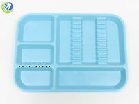 Dental Instrument Set Up Tray Includes Bur Holder Section Baby Blue Color Size B