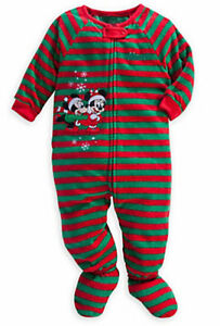 4df0ff788c Disney Store Red Green Stripes Minnie Mickey Mouse Blanket Sleeper ...
