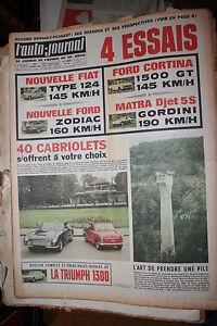 L-039-AUTO-JOURNAL-16e-ANNEE-N-401-DU-28-04-1966-MAGAZINE-COMPLET-NON-PLIE