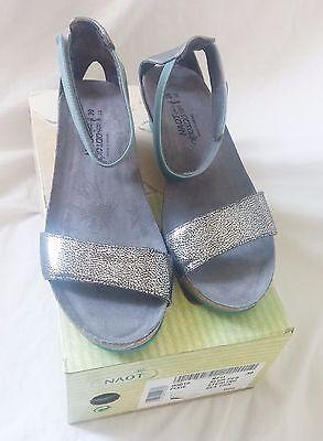 NAOT Sandals Pixie Style Ankle Strap Silver Reflective Strap - 39 EU / 8.5 US