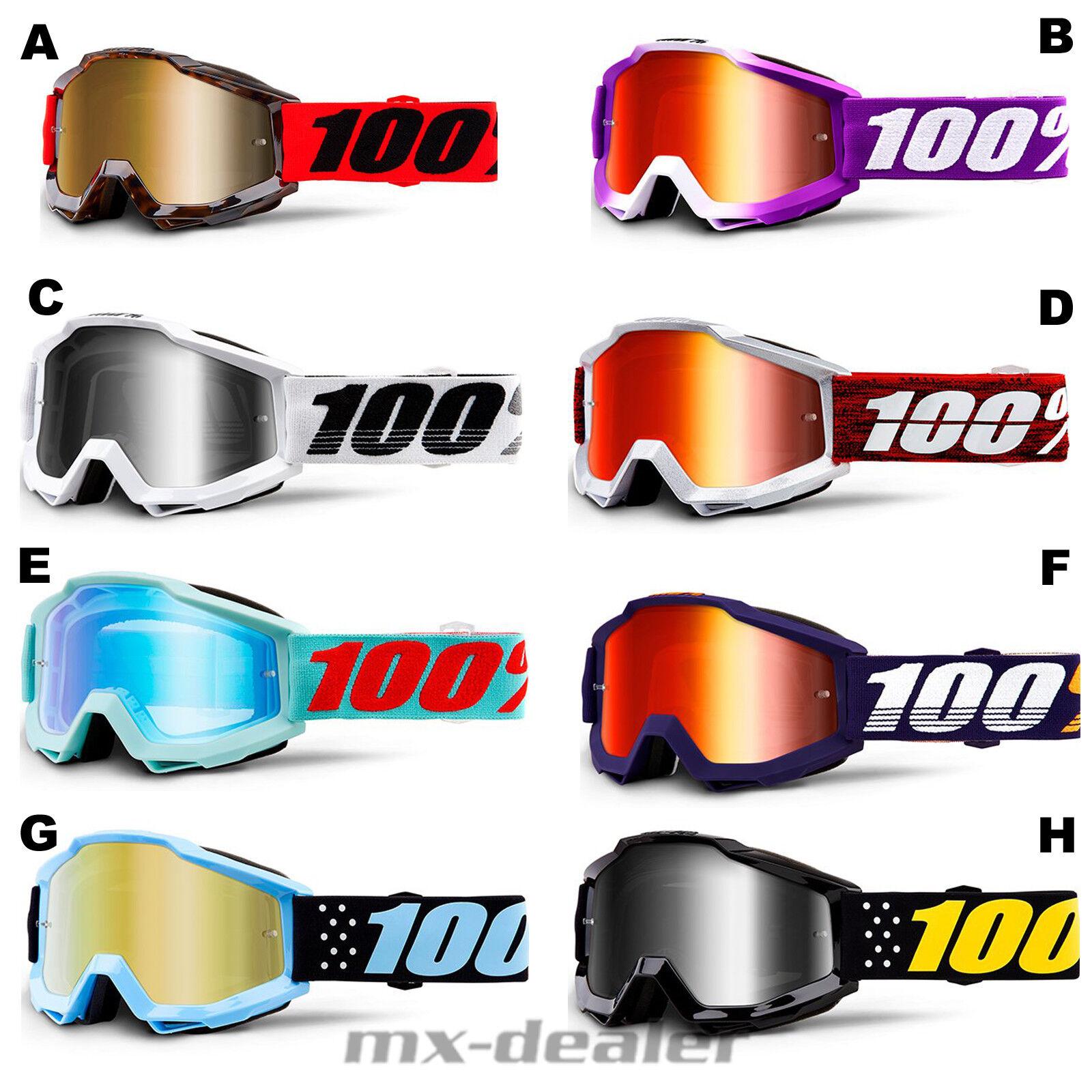 2019 100% Accuri Extra Mirroruge Goggles Motocross Enduro MTB BMX DH Cross