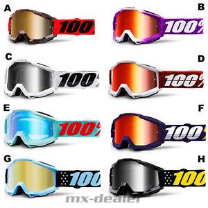 Klarglas Crossbrille MTB BMX HP7 motocross Enduro Brille fluo gelb verspiegelt