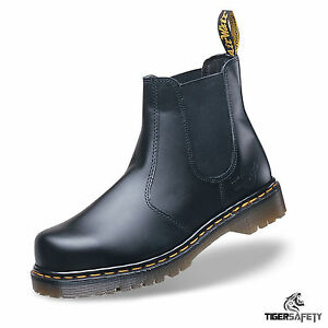 7147f60dd4e Details about Dr Martens DM Docs Icon 2228 Black Chelsea Dealer Steel Toe  Cap Safety Boots PPE