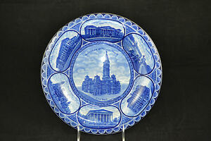 Historical-Staffordshire-Transferware-Plate-Philadelphia-Rowland-amp-Marsellus-Eng