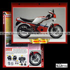 #065.04 Fiche Moto YAMAHA RD 350 LC (RDLC) 1985 Motorcycle Card