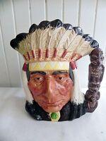 Vintage 1966 Royal Doulton North American Indian Toby Jug Mug Cup D6611 England