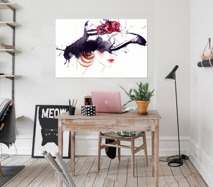 3D Hut Mdchen 645 Fototapeten Wandbild BildTapete AJSTORE DE Lemon