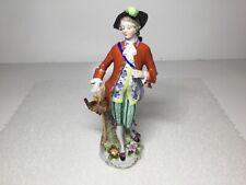 German Hochst Hunter Man with Stick and Grouse Bird Figurine