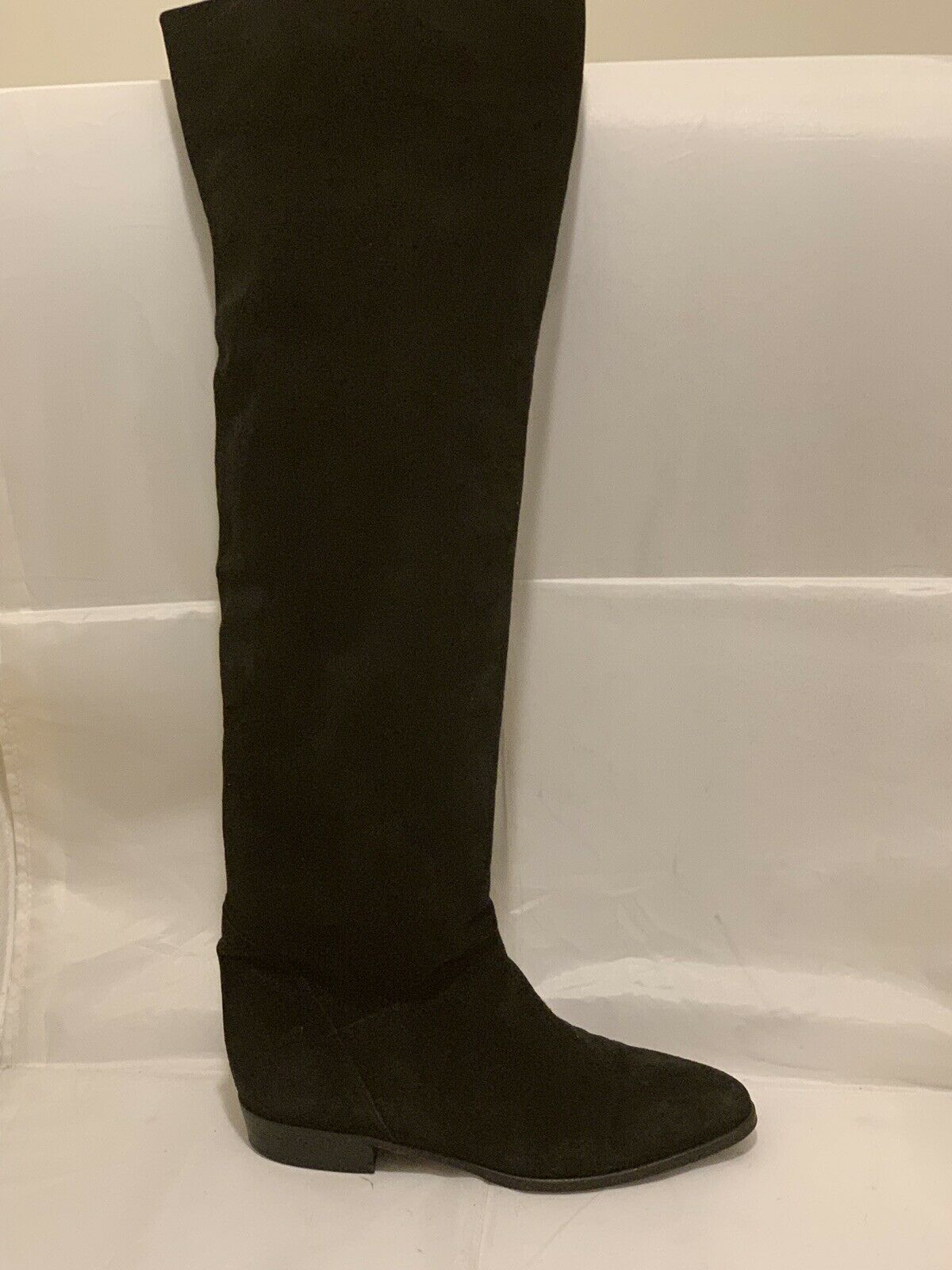 VERO CUOLO OVER OVER OVER KNEE BLACK SUEDE FLAT BOOTS ITALY SZ 39.5 EXCELLENT 65be96