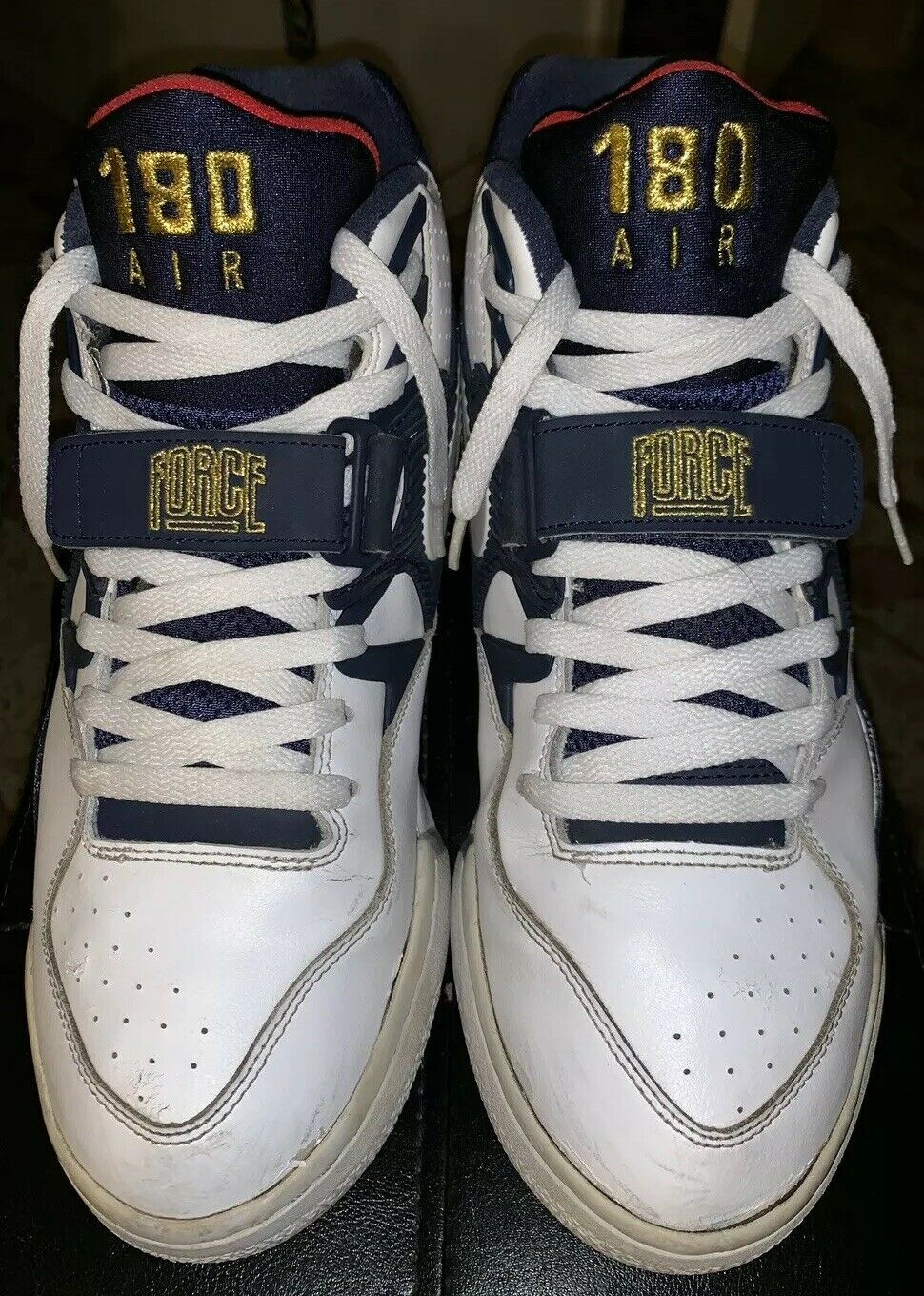 Nike Air Force 180 Olympic C Barkleys 310095 White Midnight Navy 10.5 So Rare