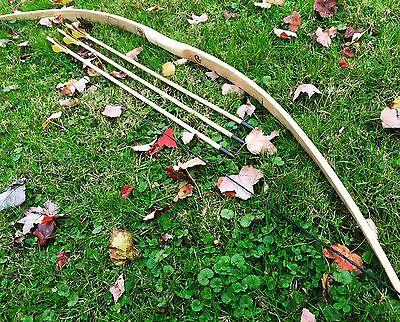 "Ringing Rocks Archery 45//50lb 64/"" You-Finish Traditional Hickory Longbow"