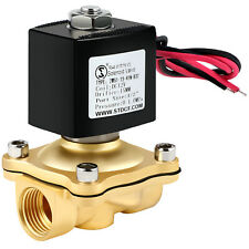 Brass Electric Solenoid Valve Dc 12v 12 Inch Npt Nc For Water Air Gas Fuel