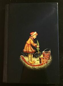 Russian Fedoskino Arts, address / phone black book. Vintage Papier-Mache
