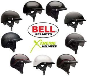 74767e39 Bell Pit Boss Helmet Motorcycle Half DOT w/ Inner Sun Shield XS-3XL ...