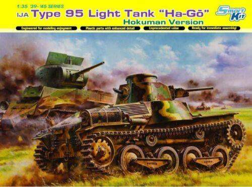 """IJA TYPE 95 Light Tank /""""Ha-Go/"""" HOKUMAN Version Smart Kit Dragon Kit 1:35 d6777"""